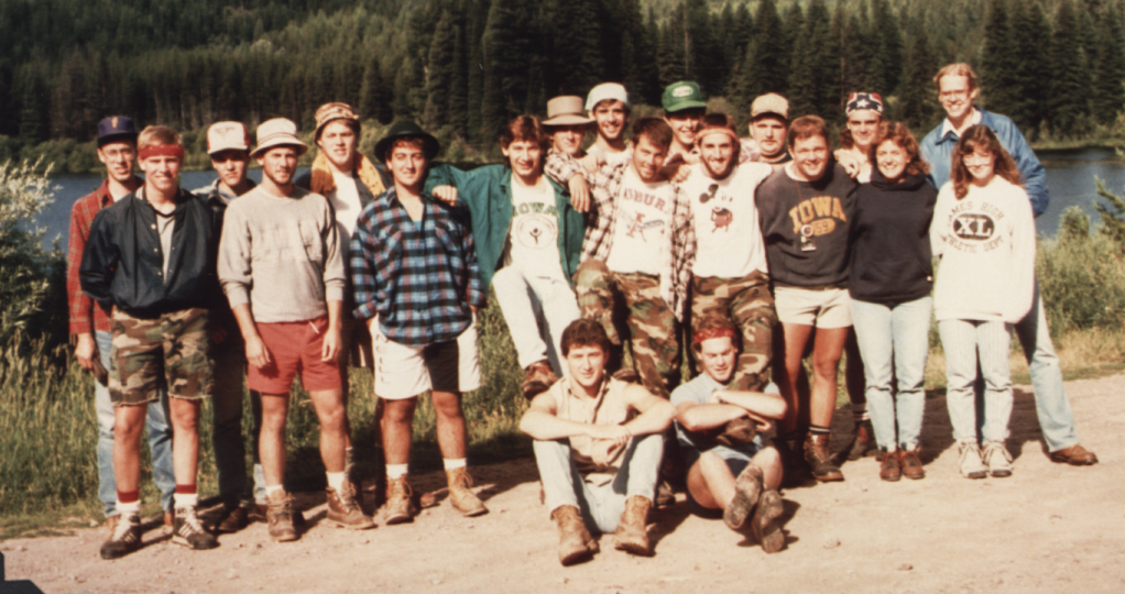 1988 group at forestry camp