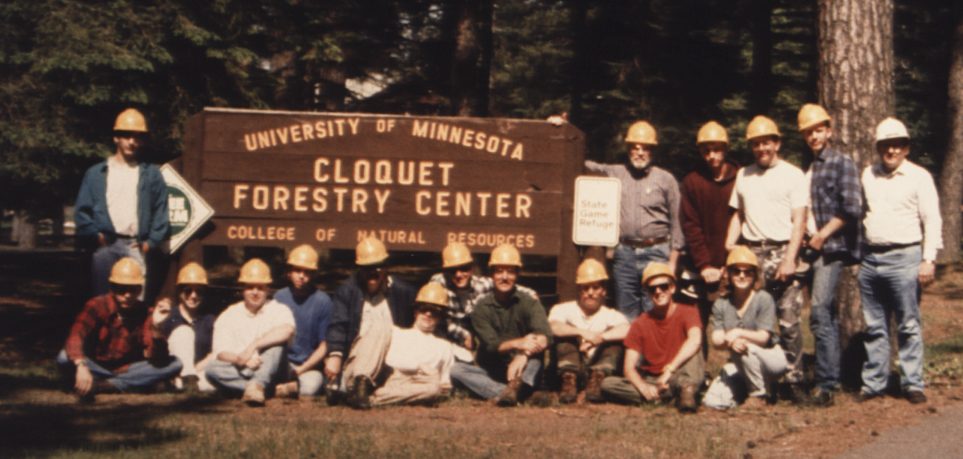 1993 group at forestry camp