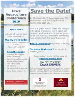 Iowa Aquaculture Conference flyer