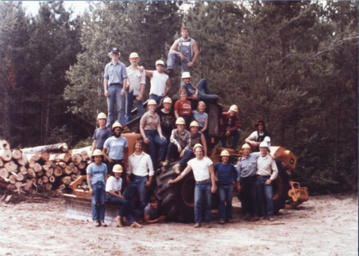 1984 group at forestry camp