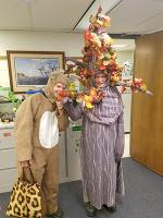 halloween costumes as tree and bunny