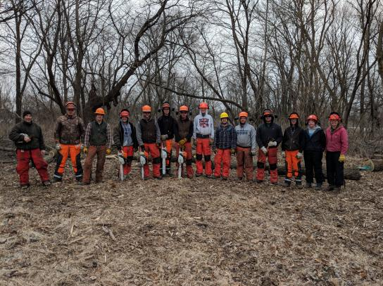 Spring 2018 Chainsaw Training Group