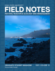 The cover of the 2021 Field Notes edition feature the title and a picture of an sea shore landscape in blues and blacks.