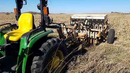 Picture of tractor and seeder
